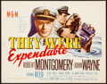 """Movie Posters:War, They Were Expendable (MGM, 1945) Very Fine. Title Lobby Card (11"""" X 14""""). War...."""