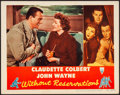 """Movie Posters:Comedy, Without Reservations (RKO, 1946) Very Fine-. Lobby Card (11"""" X 14""""). Comedy...."""