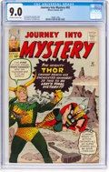 Silver Age (1956-1969):Superhero, Journey Into Mystery #92 (Marvel, 1963) CGC VF/NM 9.0 Off-white to white pages....