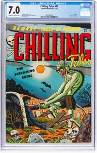 Chilling Tales #13 (Youthful Magazines, 1952) CGC FN/VF 7.0 Off-white to white pages