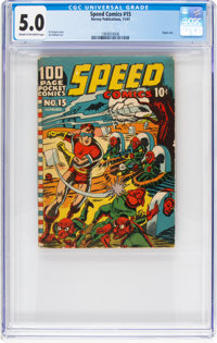 Speed Comics #15 (Harvey, 1941) CGC VG/FN 5.0 Cream to off-white pages