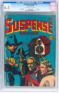 Suspense Comics #12 (Continental Magazines, 1946) CGC FN+ 6.5 Cream to off-white pages