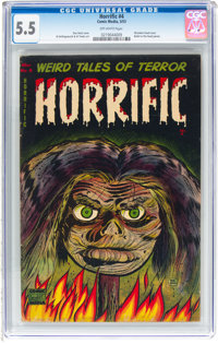 Horrific #4 (Comic Media, 1953) CGC FN- 5.5 Off-white pages