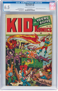 Kid Komics #6 (Timely, 1944) CGC FN+ 6.5 Cream to off-white pages
