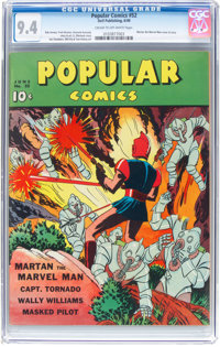 Popular Comics #52 (Dell, 1940) CGC NM 9.4 Cream to off-white pages