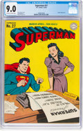 Golden Age (1938-1955):Superhero, Superman #27 (DC, 1944) CGC VF/NM 9.0 Off-white to white pages....