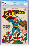 Golden Age (1938-1955):Superhero, Superman #44 (DC, 1947) CGC NM+ 9.6 White pages....
