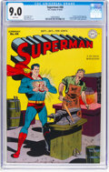 Golden Age (1938-1955):Superhero, Superman #48 (DC, 1947) CGC VF/NM 9.0 White pages....