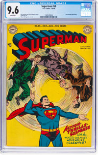 Superman #59 (DC, 1949) CGC NM+ 9.6 White pages