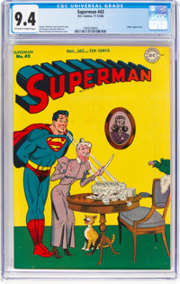 Superman #43 (DC, 1946) CGC NM 9.4 Off-white to white pages