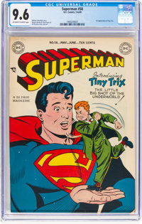 Superman #58 (DC, 1949) CGC NM+ 9.6 Off-white to white pages