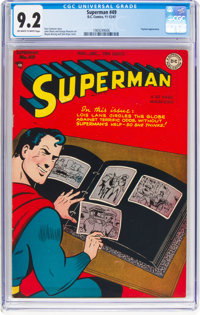 Superman #49 (DC, 1947) CGC NM- 9.2 Off-white to white pages