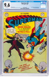 Superman #62 (DC, 1950) CGC NM+ 9.6 White pages