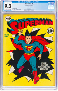 Superman #9 (DC, 1941) CGC NM- 9.2 Off-white to white pages