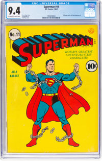Superman #11 (DC, 1941) CGC NM 9.4 Off-white to white pages