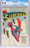 Golden Age (1938-1955):Superhero, Superman #18 (DC, 1942) CGC NM- 9.2 Off-white to white pages....