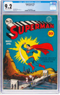 Golden Age (1938-1955):Superhero, Superman #15 (DC, 1942) CGC NM- 9.2 Off-white to white pages....