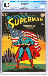 Superman #24 (DC, 1943) CGC VF+ 8.5 White pages