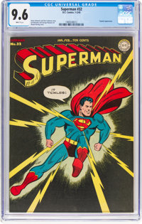 Superman #32 (DC, 1945) CGC NM+ 9.6 White pages