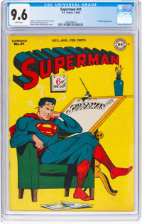 Superman #41 (DC, 1946) CGC NM+ 9.6 White pages