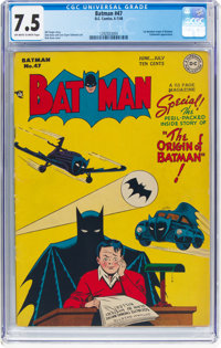 Batman #47 (DC, 1948) CGC VF- 7.5 Off-white to white pages