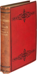 Books:Travels & Voyages, Richard F[rancis]. Burton. The Gold-Mines of Midian and the Ruined Midianite Cities. A Fortnight's Tour in North-W...