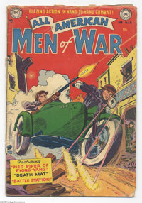 All-American Men of War #3 (DC, 1953) Condition: GD. Arthur Peddy cover. Gene Colan art. Cover detached, rough at the st...
