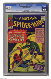 The Amazing Spider-Man #11 (Marvel, 1964) CGC VF/NM 9.0 Off-white to white pages. This issue features the first appearan...