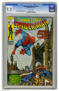 Bronze Age (1970-1979):Superhero, The Amazing Spider-Man #95 (Marvel, 1971) CGC NM- 9.2 Off-white pages. Spidey visits London, England. John Romita Sr. cover ...