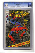 Bronze Age (1970-1979):Superhero, The Amazing Spider-Man #100 (Marvel, 1971) CGC VF+ 8.5 White pages. Anniversary issue, with a Green Goblin cameo. John Romit...
