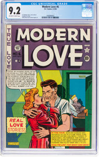 Modern Love #6 (EC, 1950) CGC NM- 9.2 Off-white to white pages