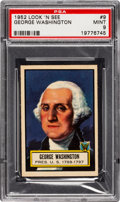 Non-Sport Cards:General, 1952 Topps Look 'N See George Washington #9 PSA Mint 9 - Pop Four,None Higher. ...