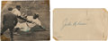 Baseball Collectibles:Others, 1951 Jackie Robinson Signed Government Postcard & Magazine Photograph. ...