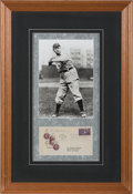 Baseball Collectibles:Others, 1939 Cy Young Signed First Day Cover Baseball Centennial Display. ...