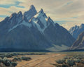 Paintings, Leland Curtis (American, 1897-1992). Moose, Wyoming. Oil on canvas. 24 x 30 inches (61.0 x 76.2 cm). Signed lower right:...