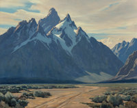 Leland Curtis (American, 1897-1992) Moose, Wyoming Oil on canvas 24 x 30 inches (61.0 x 76.2 cm)<