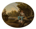 Paintings, School of Thomas Le Clear (American, 1818-1882). Fisherboy. Oil on canvas. 27 x 34 inches (68.6 x 86.4 cm). PROVENANCE...