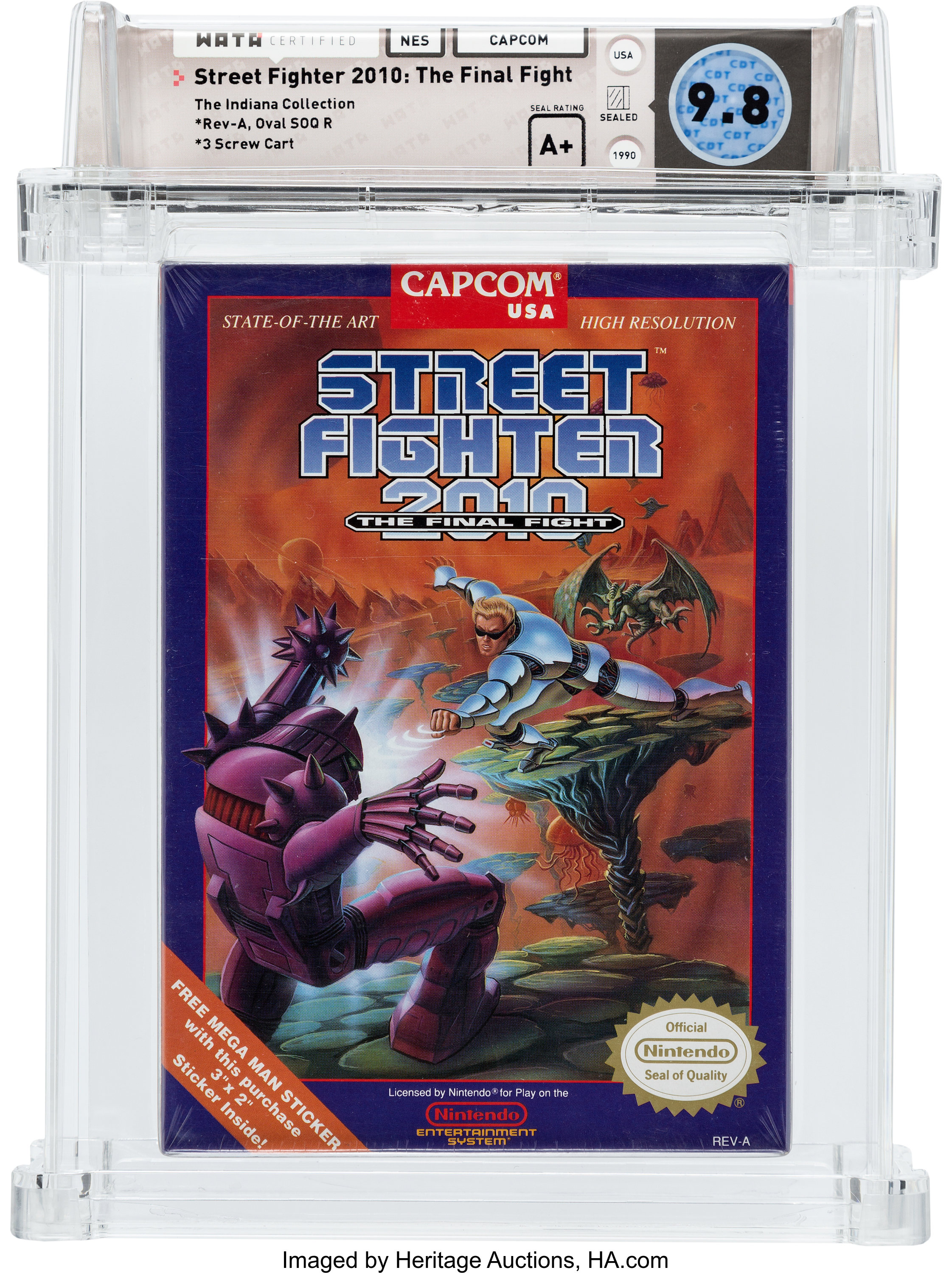 Street Fighter 2010 The Final Fight Nes Capcom 1990 Wata 9 8