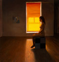 Paintings, Qian Yang (American/Chinese, b. 1959). Girl in Big Room #6, 1991. Acrylic on canvas. 36 x 34 inches (91.4 x 86.4 cm). Si...