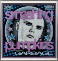Music Memorabilia:Posters, Smashing Pumpkins/Garbage Concert Poster Numbered and Signed by the Poster Artist (Electricity Factory Concerts, 1996)....