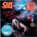 Music Memorabilia:Memorabilia, Ozzy Osbourne Bark at the Moon Signed Vinyl LP by Ozzy Osbourne With Backstage Pass and Signed Tribute...