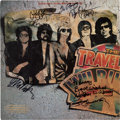 Music Memorabilia:Memorabilia, Traveling Wilburys Vinyl LP Signed By All of the Members (1988)....