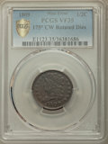Half Cents, 1809 1/2 C VF35 -- 175 Degree Counter Clockwise Rotated Dies -- PCGS Secure. PCGS Population: (33/324 and 0/0+). NGC Census...