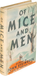 "Books:Literature 1900-up, John Steinbeck. Of Mice and Men. New York: Covici Friede,1937. First edition, first issue with ""and only moved beca..."