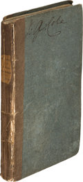 Books:Literature Pre-1900, [Thomas De Quincey]. Confessions of an English Opium-Eater. London: Taylor and Hessey, 1822. First edition....