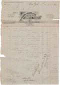 Baseball Collectibles:Others, 1890 Tim Keefe Signed Document Used to Purchase Lumber for the Construction of Brotherhood Park. ...