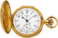 Timepieces:Pocket (pre 1900) , E. Robert & Co., Geneve 18k Gold Minute Repeater With Split Second Chronograph, circa 1880's. ...