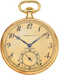 Timepieces:Pocket (post 1900), Tiffany & Co., 18k Gold Watch By Touchon & Co., circa 1915....