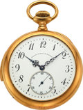 Timepieces:Pocket (post 1900), Swiss, 18k Gold Minute Repeater For Bailey Banks & Biddle, circa 1905. ...