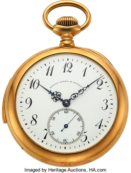 Swiss 18k Gold Minute Repeater For Bailey Banks Biddle Circa Lot 54314 Heritage Auctions